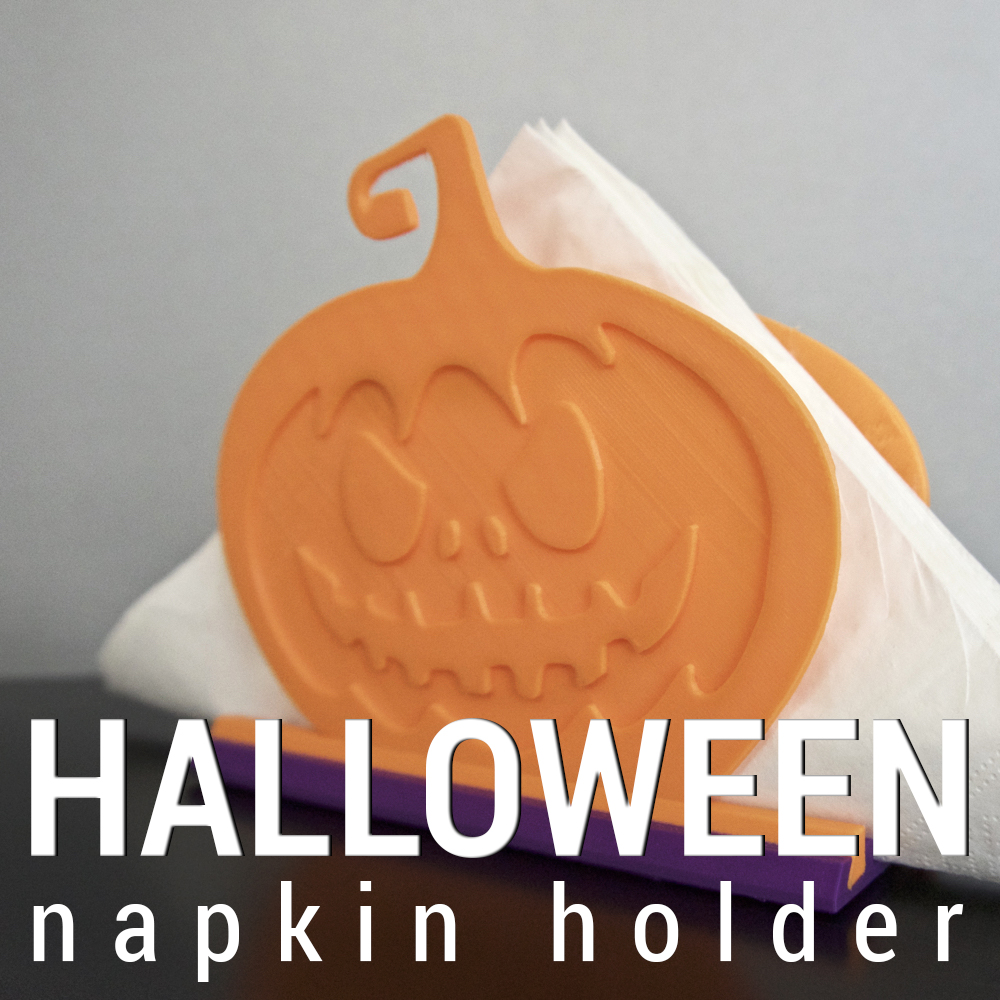 3dshook halloween pumpkin napkin holder